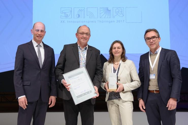 Zweiter Innovationspreis für GynTect in 2017:  oncgnostics ist Gewinner des Innovationspreises Thüringen in der Kategorie