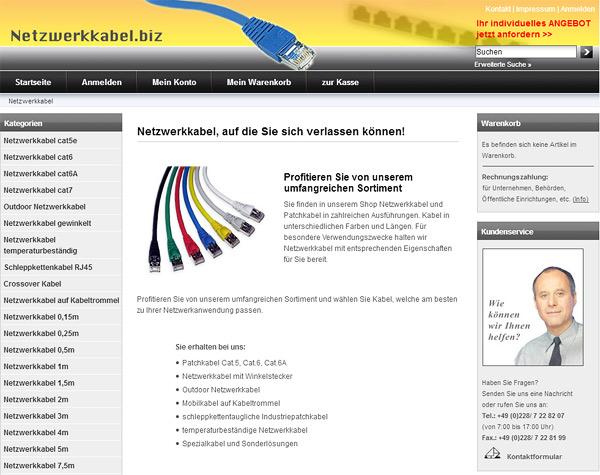 Neuer Portalbetreiber bei Netzwerkkabel.biz
