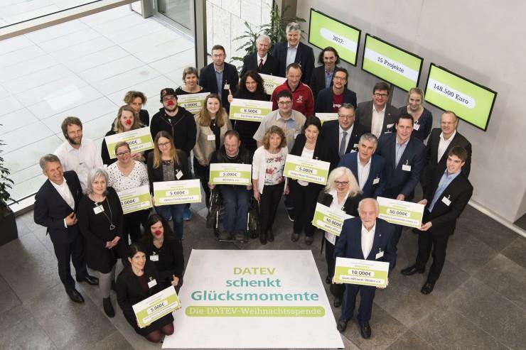 DATEV-Weihnachtsspende 2017  148.500 Euro für den guten Zweck