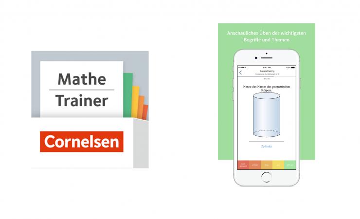 Mobiles Lernen für Mathematik in der Sekundarstufe I: Cornelsen erweitert mit dem Mathe Trainer sein App-Angebot für Jugendliche