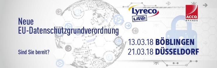 Lyreco & LEITZ ACCO Brands laden zu DSGVO-Informationsveranstaltungen