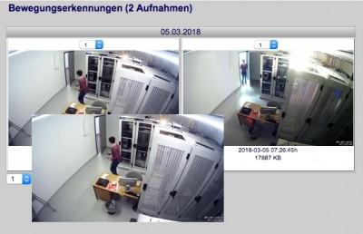 Videoüberwachung mit neuer Motion Snapshot Übersicht