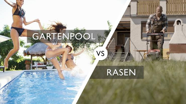 Swimmingpool statt Rasenmäher?
