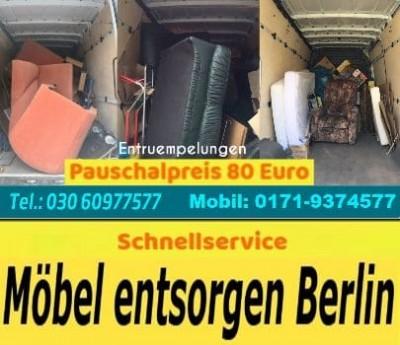 Sperrmüllentsorgungen Berlin Komplett Service Sofort Preisgünstig Entrümpelung