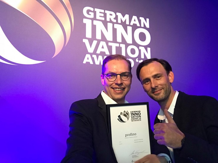 Onlinemesse profino erhält German Innovation Award 2018!