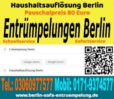 Berlin Wohnungsauflösungen preisgünstig pauschal