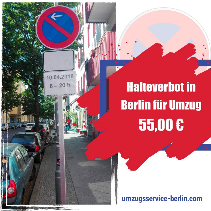 Halteverbot oder Halteverbotszone in Berlin einrichten - egal für den Umzug oder Baustelle