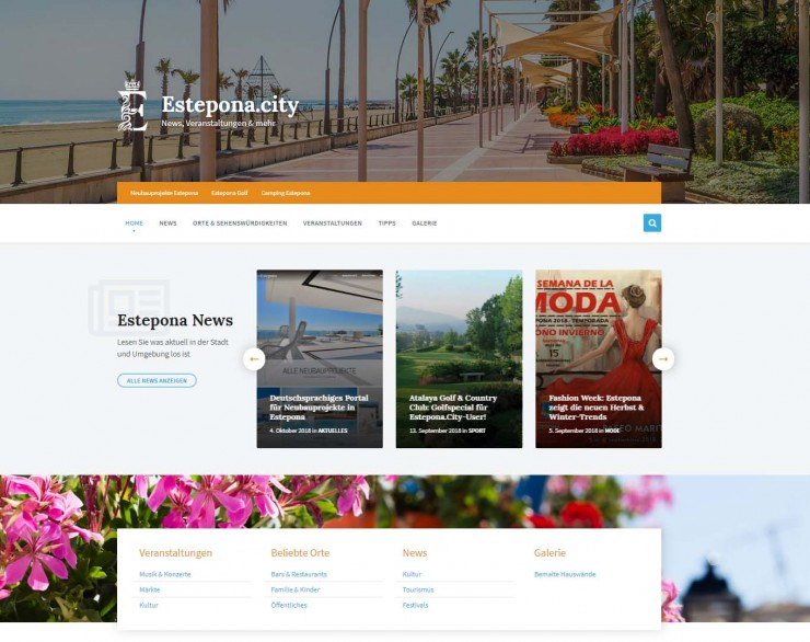 Neues Stadtportal für Estepona
