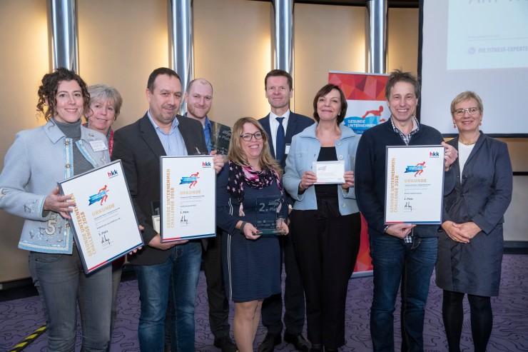 Gesunde Unternehmen  Challenge 2018: Senatorin Quante-Brandt ehrt Sieger