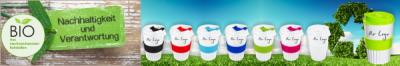 Nachhaltige Bio-Mehrwegbecher To Go aus nachwachsenden Rohstoffen - neu beim Trinkflaschenexpress