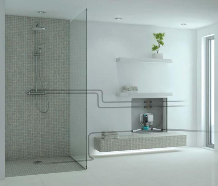 Bodengleiche Dusche für ein barrierefreies Bad im Bestand:  die neue SANFTLÄUFER automatik Duschabwasserpumpe