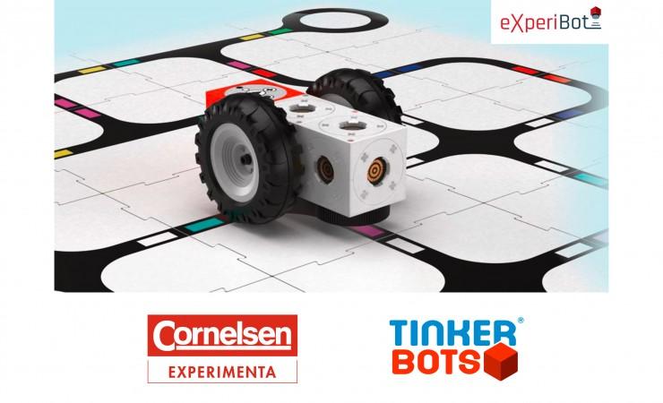 Ein Lernroboter für den Unterricht: eXperiBot / Cornelsen Experimenta und Tinkerbots stellen Lernroboter auf der didacta in Köln vor