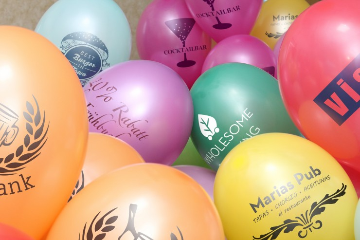 Ostern-Deko: Luftballons bedrucken