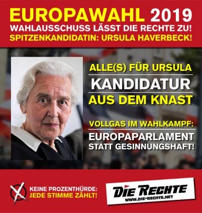 DIE RECHTE: Ursula Haverbeck ist Spitzenkandidatin zur Europawahl am 26. Mai 2019