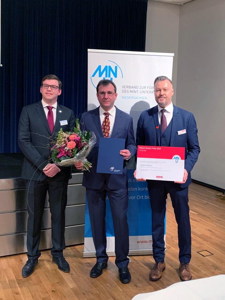 Robert-Boyle-Preis vom MNU und Cornelsen für Thomas Hetland aus Sachsen