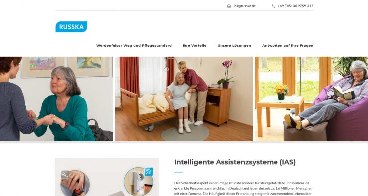 Launch der Internetseite ias.russka.de zur ALTENPFLEGE Messe:  RUSSKA veröffentlicht Infoseite zu Intelligenten Assistenzsystemen