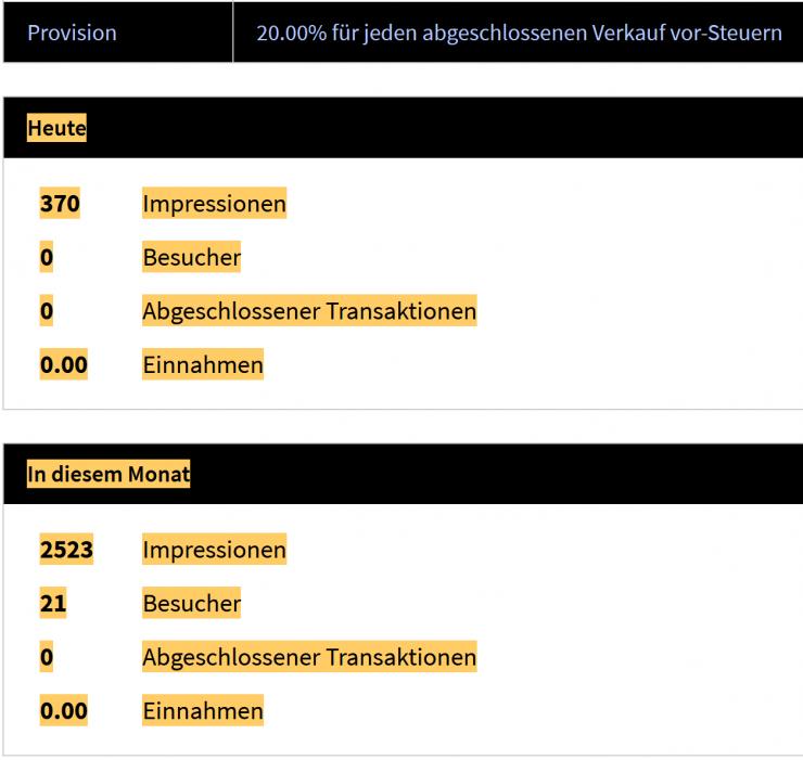 20 Prozent Provision als Affiliate von ProviThor, einem Versender von Thortrüffeln zur Mikrodosierung