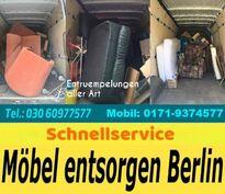 Entrümpelungen Berlin Tel. 030/609 775 77 sofort pauschal 80 Euro