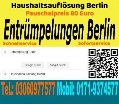 Möbel Entrümpelung Berlin Tel. 03060977577