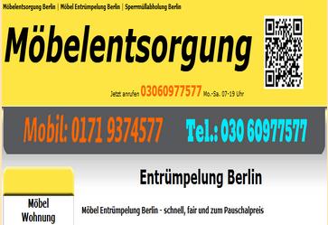 Sämtliche Möbelentsorgungen Berlin 80 Euro-3m³