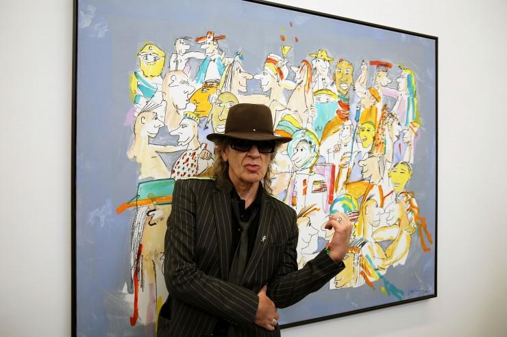 Ausstellungseröffnung: Udo Lindenberg zeigt seine Werke im Museum der bildenden Künste Leipzig