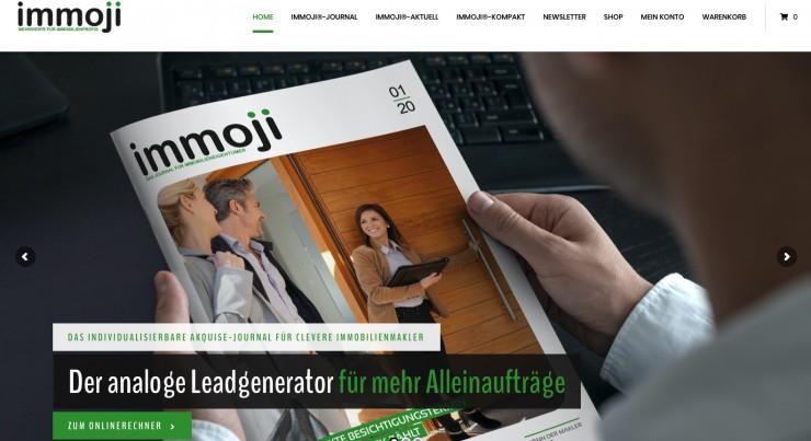Das neue Immoji®-Portal: Alles unter einem Dach, was Immobilienmakler brauchen
