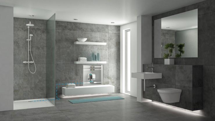 Überall bodengleich duschen: SANFTLÄUFER Universaladapter entwässert jeden Ablauf
