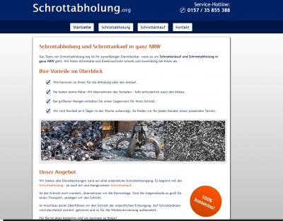 Schrottabholung in NRW - mobile Schrotthändler fahren zum Kunden