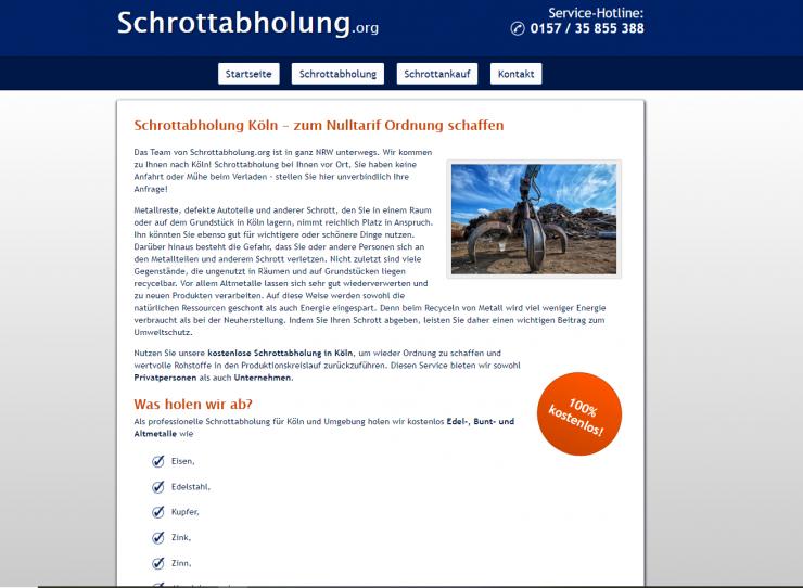 Metall aller Art abholen lassen - Schrottabholung in Köln