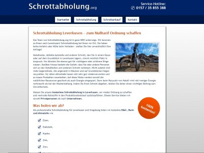 Schrottabholung in Leverkusen - Mobile Schrotthändler im Einsatz