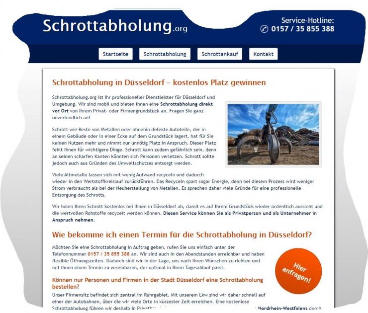 Wiederaufbereitung von Schrott mit der Schrottabholung Düsseldorf