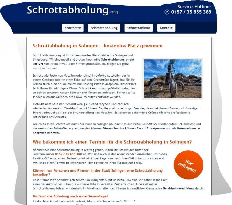 Schrottabholung in Solingen - mobile Schrotthändler im Einsatz