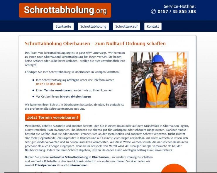 Die Schrottabholung in Oberhausen ist tätig in einem der ältesten Berufe der Menschheit