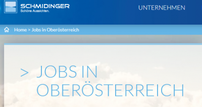Aktuelle Jobs bei Fenster-Schmidinger in OÖ