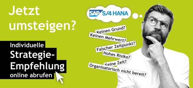 Individuelle Strategie- Empfehlung für den Wechsel auf SAP S/4HANA
