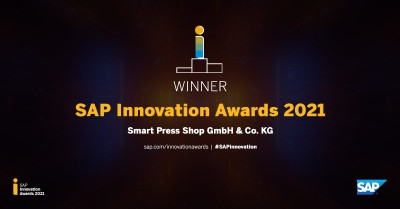 Smart Press Shop gewinnt SAP Innovation Award 2021 für Implementierungsprojekt mit Syntax