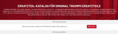 Original Triumph Motorräder Ersatzteilkatalog - www.triumph-teileshop.de - Triumph Motorrad Online Shop für Ersatzteile