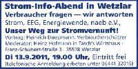 Windkraft torpediert Verbraucherschutz per EEG: Gesetzliche Zwangseinspeisung ist unsozial