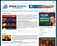 Spielautomaten in Online Casinos