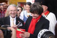 Schweizer Bundespräsidentin tauft neuen Redlove auf der OLMA 2011