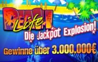 Beach Life Jackpot über 3 Mio