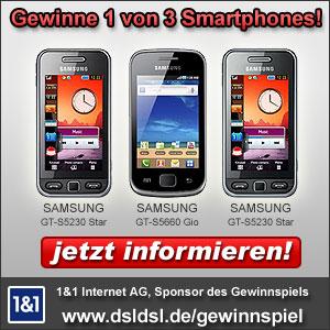 Smartphone Gewinnspiel auf DSLDSL.de