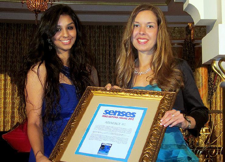 SENSES Innovation Award für Airnergy - Medizinische Therapiemethode durchbricht Schallmauer
