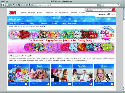 Okklusionstherapie und Compliance: Neue 3M Website für Praxis, Apotheke, Eltern und Kinder