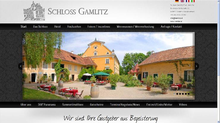 Wein, Schloss und Hotel im Österreich