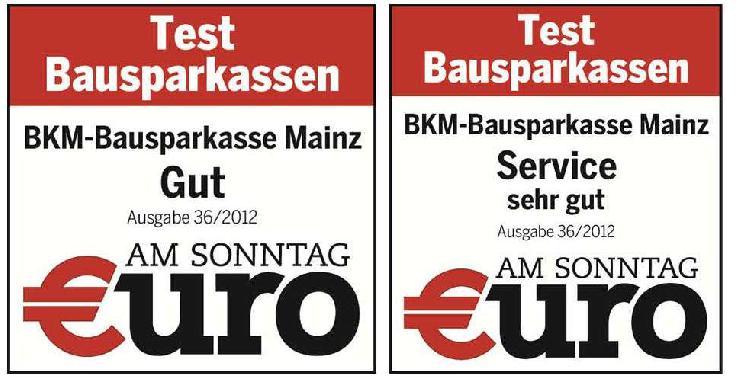 BKM erhält sehr gut im Bausparkassentest von Euro am Sonntag