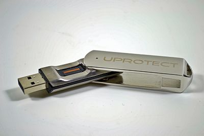Fingerabdruck USB-Speicher: uProtect³