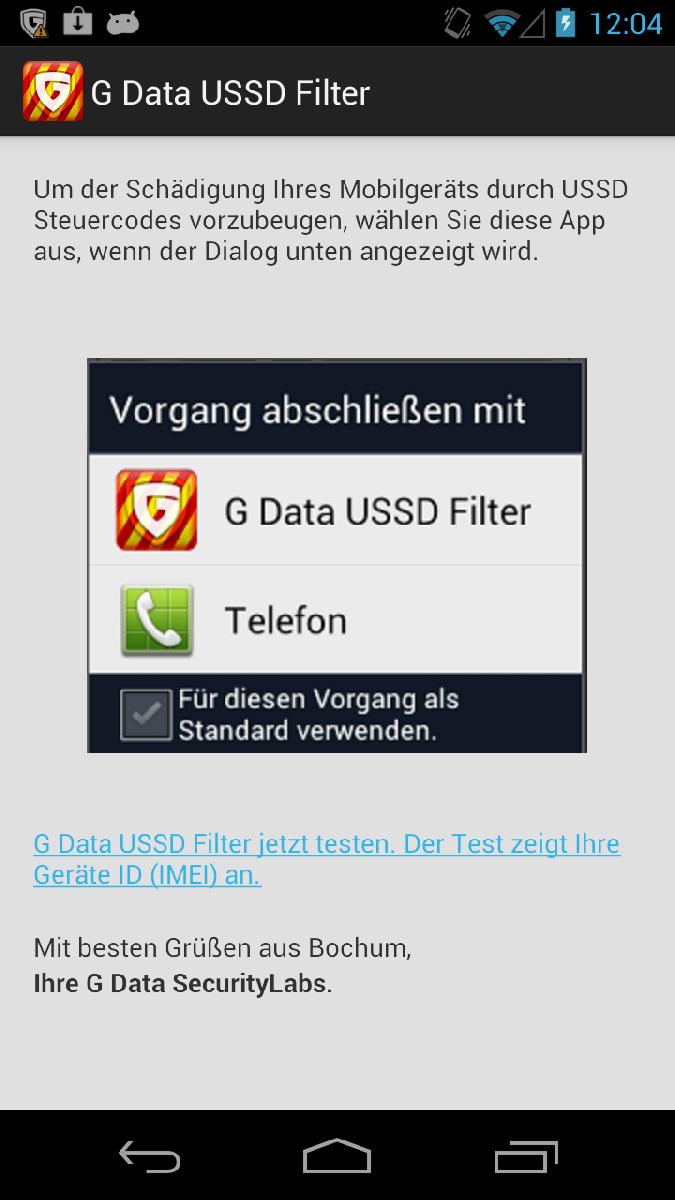G Data App schützt vor USSD-Sicherheitslücke bei Android-Smartphones