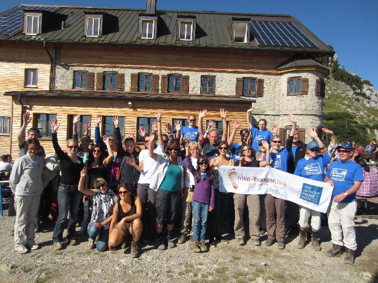 Voller Erfolg: hike4hunger auf das Rotwandhaus zugunsten des Hunger Projekts in Afrika