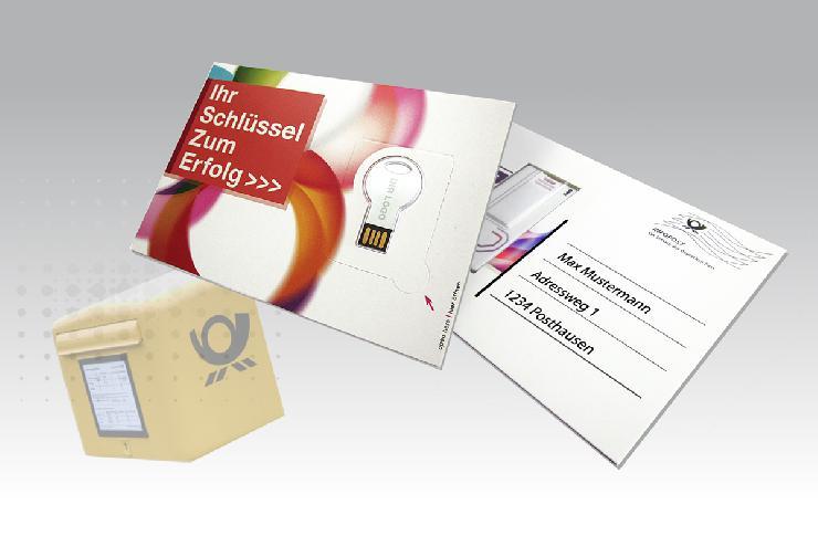 Die USB Postkarte  eine Weltneuheit aus Deutschland